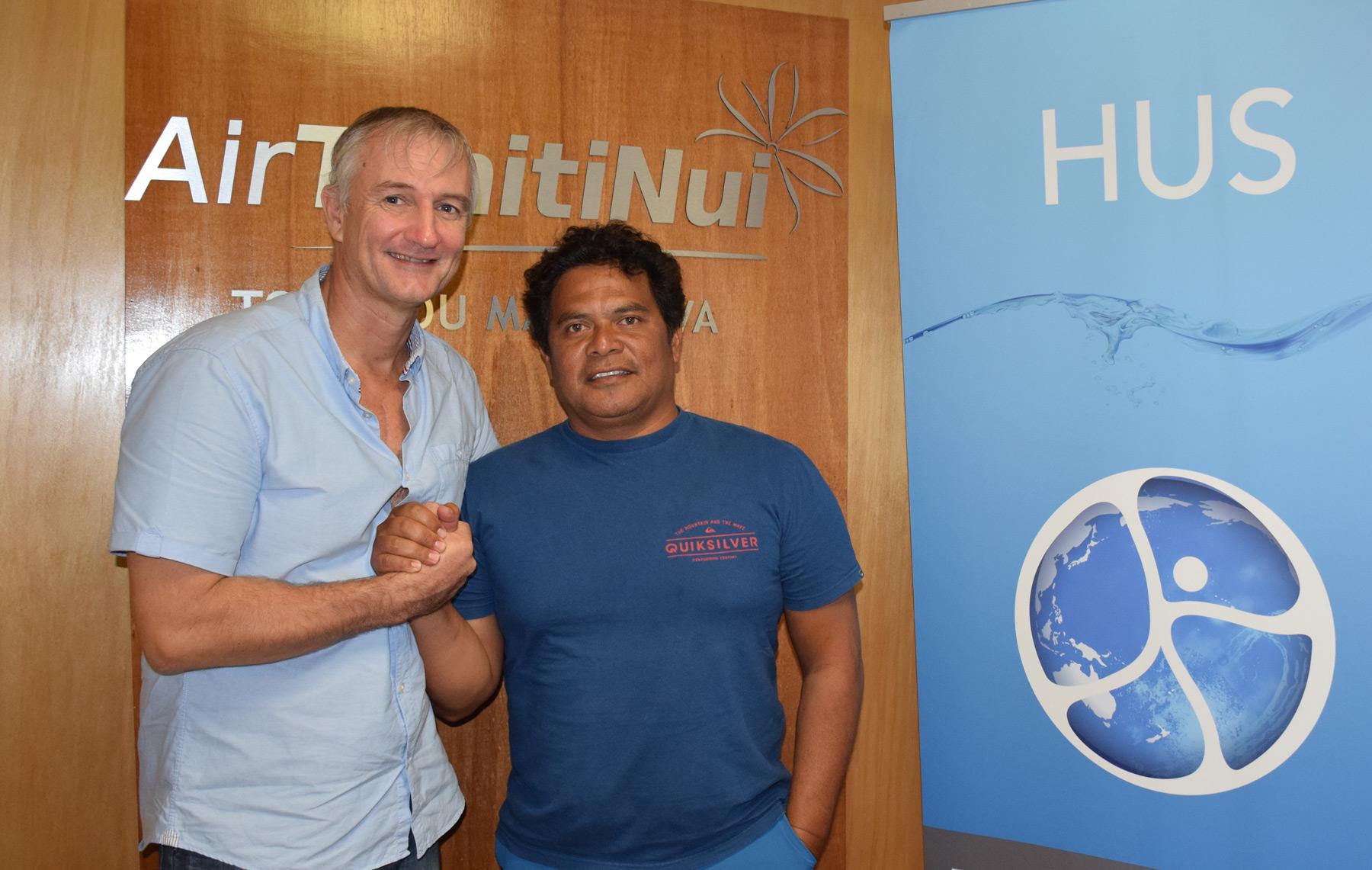 Le surf tahitien soutient la HUS l