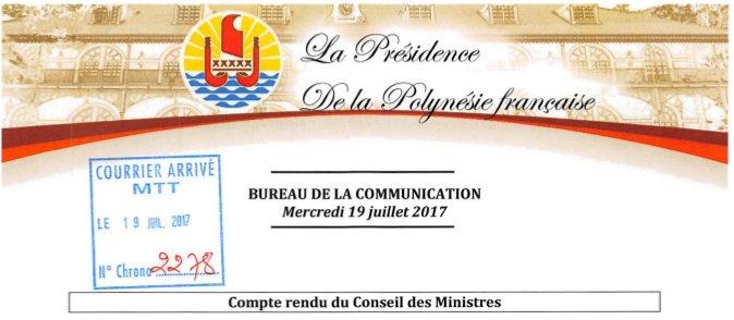 HUS communiqué présidence